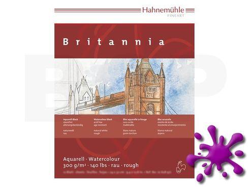 Aquarellblock Britannia rau 300g 42x56cm 12 Blatt – Bild 1