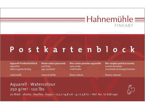 Hahnemühle Aquarell-Postkartenblock rau 250g, 20 Blatt, DIN A6  – Bild 1