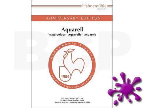 Hahnemühle Anniversary Aquarellblock 425g, 15 Blatt, 24x32cm  – Bild 1