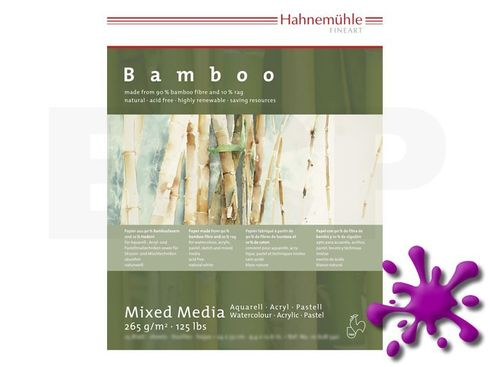 Bamboo-Mixed Media 265g 30x40cm 25 Blatt