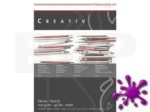 Hahnemühle Skizzenpapier Creativ 100g, 100 Blatt, A4 – Bild 1