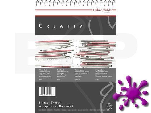 Hahnemühle Skizzenpapier Creativ 100g, 100 Blatt, A4, spiralisiert
