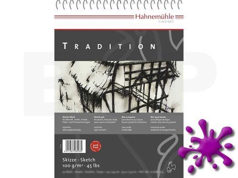 Hahnemühle Skizzenblock Tradition 100g/m², 17x24cm, 50 Blatt - spiralisiert  – Bild 1
