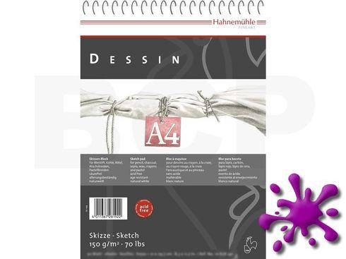 Hahnemühle Skizzenblock Dessin 150g/m², A4, 25 Blatt - spiralisiert  – Bild 1
