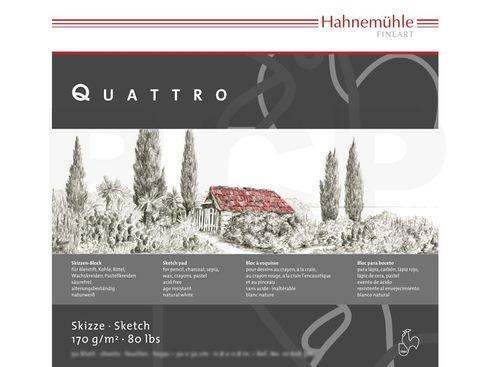 Hahnemühle Skizzenblock Quattro 170g/m², 25,4x25,4cm, 50 Blatt – Bild 2