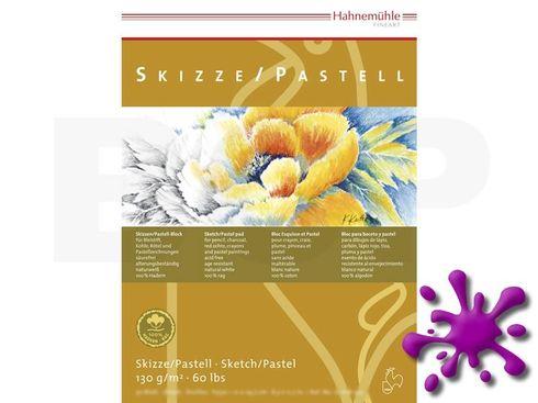 Skizze/Pastell Block 100% Hadern 130g A4 30 Blatt – Bild 1