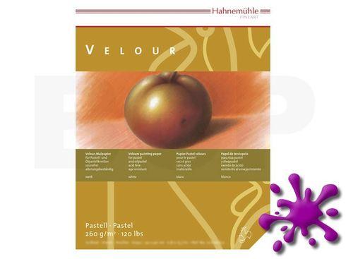Pastellpapier Velour-Block 260g 24x32cm 10 Blatt weiß – Bild 1