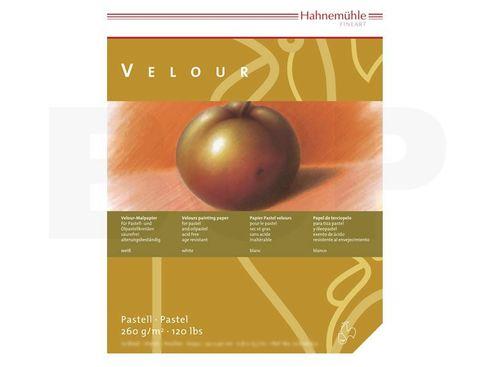 Pastellpapier Velour-Block 260g 24x32cm 10 Blatt weiß – Bild 2