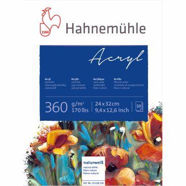 Hahnemühle Acrylmalkarton - Block 360g 24x32cm 10 Blatt