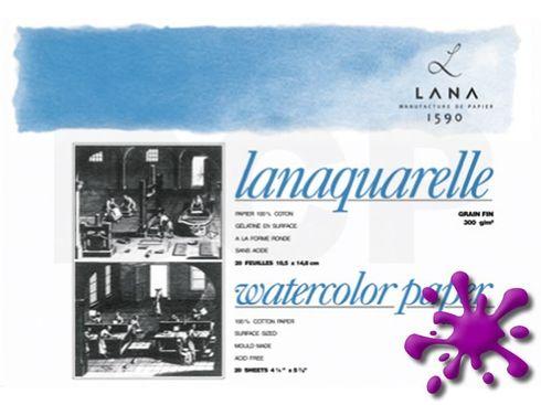 Lanaquarelle Block matt 100%Hadern 300g 18x26cm 20Blatt – Bild 2