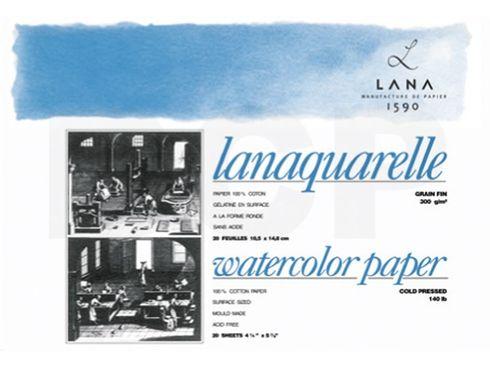 Lanaquarelle Block matt 100%Hadern 300g 46x61cm 20Blatt – Bild 1