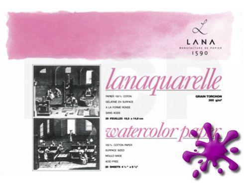 Lanaquarelle Block rau 100% Hadern 300g 18x26 20 Blatt – Bild 1