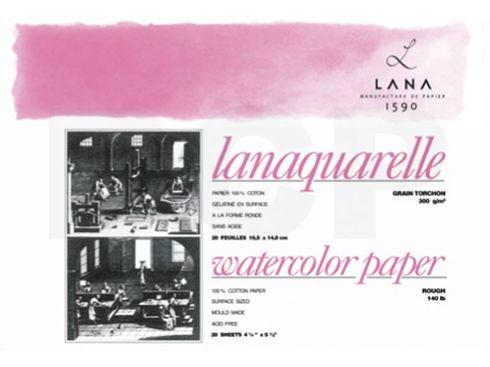 Lanaquarelle Block rau 100% Hadern 300g 18x26 20 Blatt – Bild 2