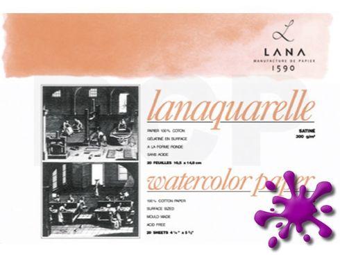 Lanaquarelle satiniert 100%Hadern 300g 18x26cm 20 Blatt – Bild 1