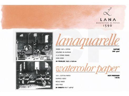 Lanaquarelle satiniert 100%Hadern 300g 46x61cm 20 Blatt – Bild 2