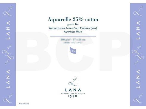 Lana Aquarelle matt 25% Coton 300g/m², 24x32cm, 12 Blatt – Bild 2
