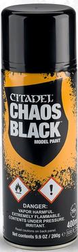 Citadel Sprühgrundierung: Chaos Black 400ml