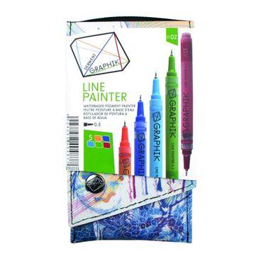 Derwent Graphik Line Painter, farbiges Fineliner Set Nr. #02