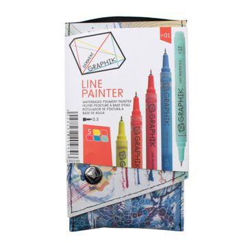 Derwent Graphik Line Painter, farbiges Fineliner Set Nr. #01