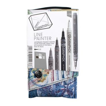 Derwent Graphik Line Painter, farbiges Fineliner Set Nr. #04