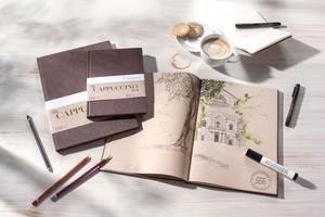 "Hahnemühle Skizzenbuch ""The CAPPUCCINO Book"" A4 120g/m²  – Bild 3"