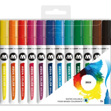 MOLOTOW Aqua Color Brush Marker 12er Set – Bild 1