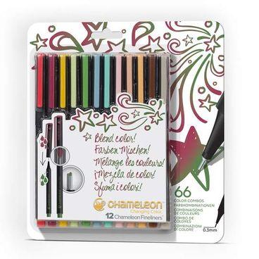 Chameleon Pens 12er Fineliner Set - Designer Farben – Bild 1