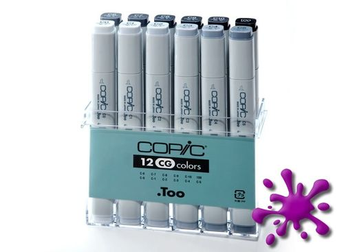 Copic Marker 12er Set - Grau CG (A1)  – Bild 1
