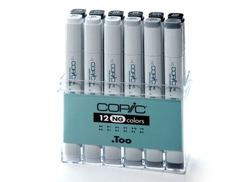 Copic Marker 12er Set - Grau NG (A2)  – Bild 1