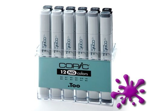 Copic Marker 12er Set - Grau NG (A2)  – Bild 2