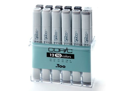 Copic Marker 12er Set - Grau TG  (A3)  – Bild 2