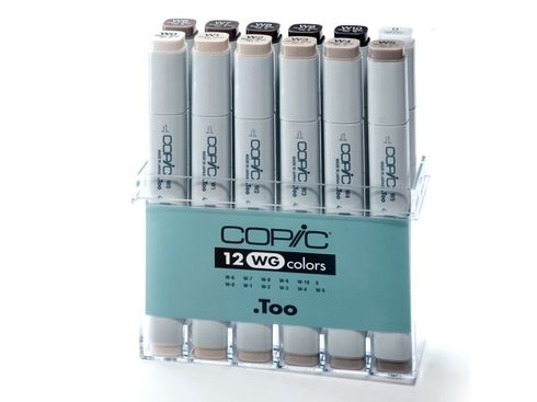 Copic Marker 12er Set - Grau WG (A4)