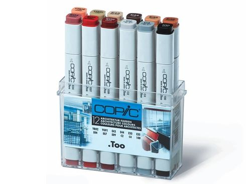 Copic Marker 12er Set - Architekturfarben