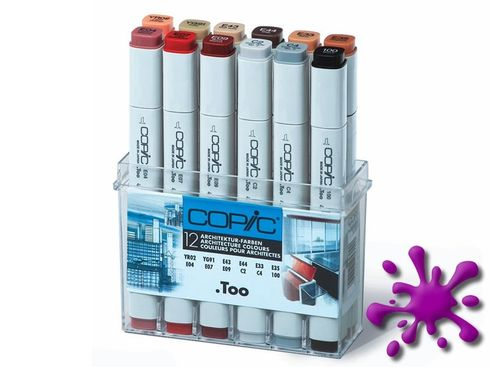 Copic Marker 12er Set - Architekturfarben – Bild 2