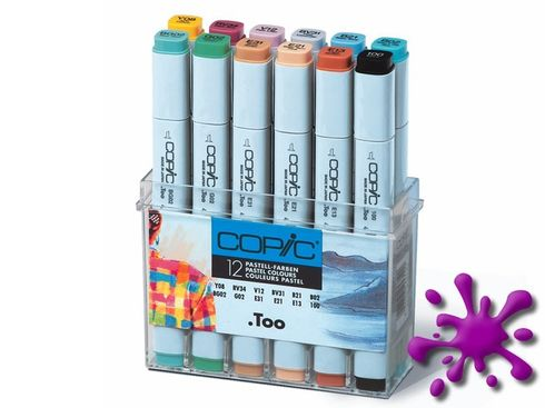 Copic Marker 12er Set - Pastellfarben
