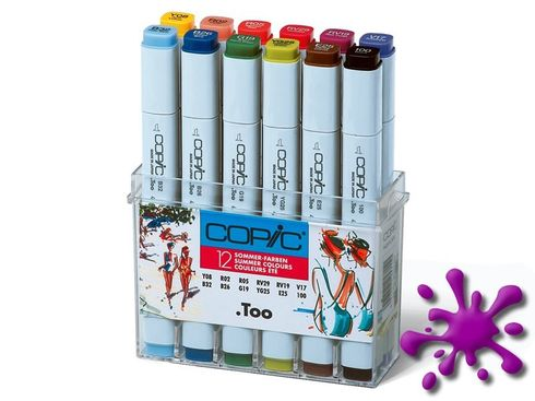 Copic Marker 12er Set - Sommerfarben  – Bild 2