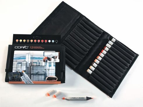 Copic Marker Set 12 Architekturfarben im 24er Wallet – Bild 2