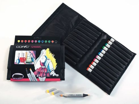 Copic Marker Set 12 Leuchtende Farben  im 24er Wallet