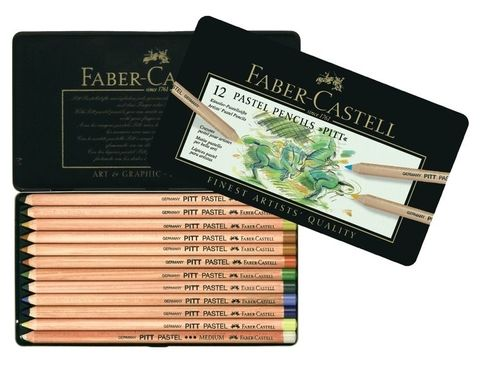 Faber-Castell PITT Pastellstifte 12er Metalletui – Bild 1