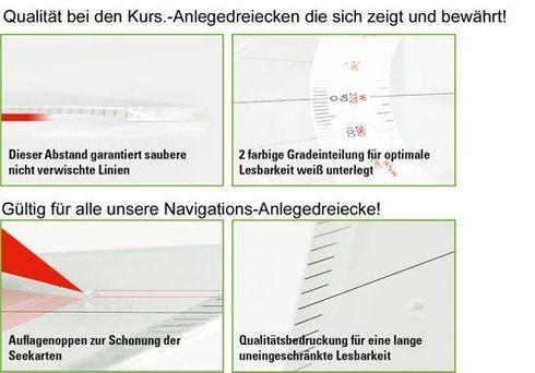 Navigations Anlegedreieck, groß 32,5cm - Ecobra 7062  – Bild 2
