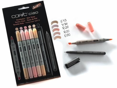 Copic Ciao 5+1 Set Hautfarben - 22075552 – Bild 1