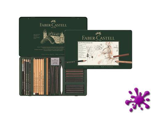 Faber-Castell Pitt Monochrome Set groß im Metalletui, 33-teilig – Bild 2