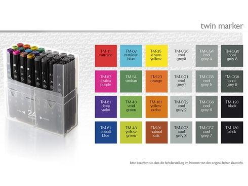 Touch Twin Marker Set 24er Set - Designer Stifte Touch Twin Marker Set 24er Set - Designer Stifte