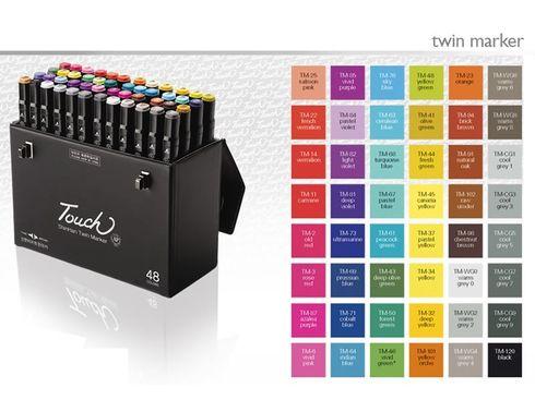 Touch Twin Marker Set 48er Set - Künstler Stifte – Bild 1