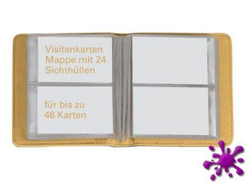 Ecobra 611054 - Visitenkarten-Buch für 24/48 Karten