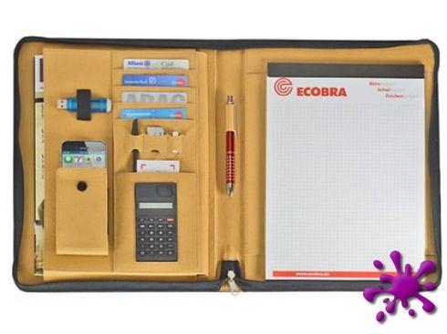 Ecobra 611057 - Konferenzmappe DIN A4 Reißverschluss