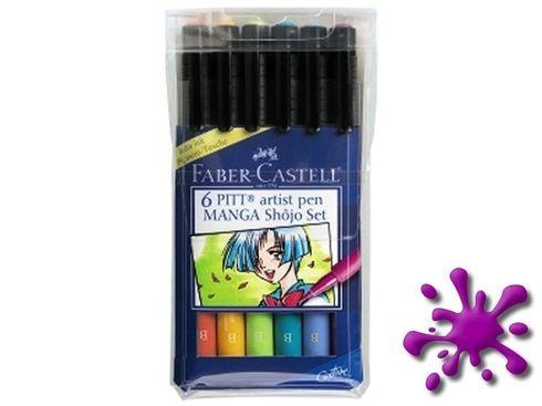 Faber-Castell PITT Artist Pen 6er Etui brush Shôjo Set – Bild 2