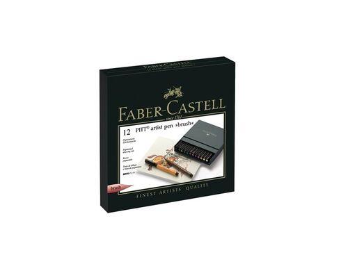 Faber-Castell PITT Artist Pen 12er brush Atelierbox – Bild 4