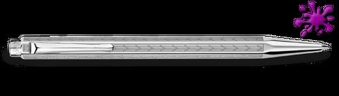 Kugelschreiber  -Caran D'Ache- ECRIDOR CHEVRON palladiumbeschichtet / Gravurfeld – Bild 1