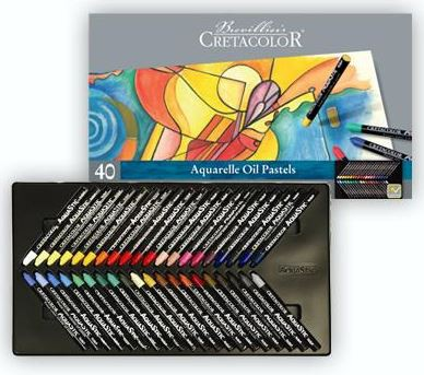 CRETACOLOR Aqua Stic - 40er Aquarell-Set im Metalletui